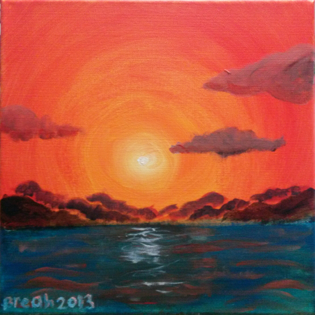 Sunset Island Painting