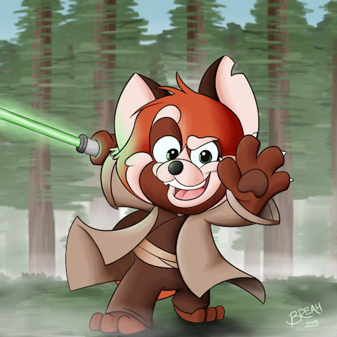 The Forest Awakens - Jedi Red Panda