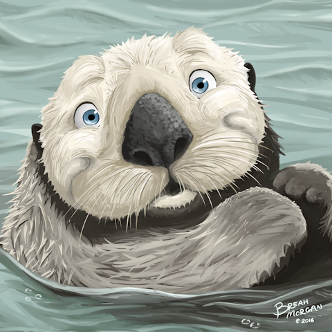 Sea Otter painting